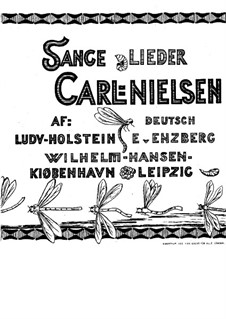 Sechs Lieder, FS 18 Op.10: Für Stimme und Klavier by Carl Nielsen