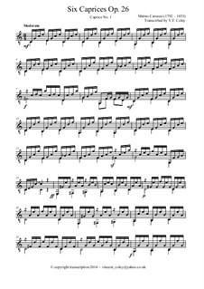 Sechs Capricen, Op.26: Vollsammlung by Matteo Carcassi