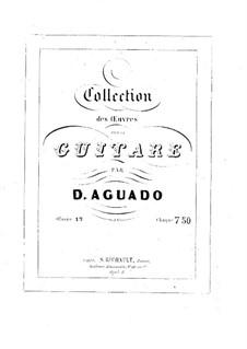 Morceaux agréables non difficiles, Op.13: Vollsammlung by Dionisio Aguado