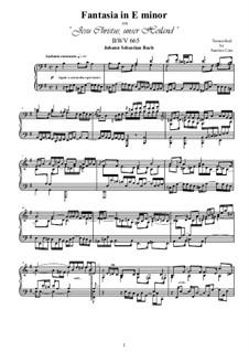 Choralvorspiele III (Leipziger Choräle): Jesus Christus, unser Heiland, for piano, BWV 665 by Johann Sebastian Bach