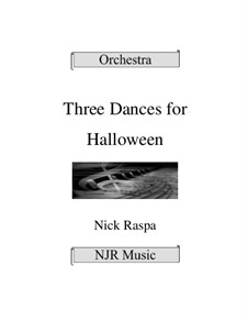 Drei Tänze für Halloween: Score, parts by Nick Raspa