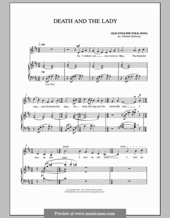 Death and the Lady: Für Stimme und Klavier by folklore