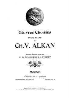 Streichquartett Nr.18 in A-Dur, K.464: Andante. Bearbeitung für Klavier by Wolfgang Amadeus Mozart