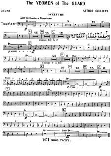 The Yeomen of the Guard: Schlagzeugstimmen by Arthur Sullivan