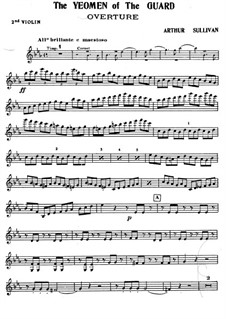 The Yeomen of the Guard: Violinstimme II by Arthur Sullivan