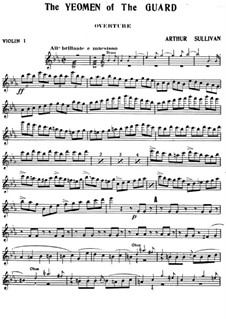 The Yeomen of the Guard: Violinstimme I by Arthur Sullivan