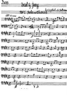 Schwurgericht: Kontrabass-Stimme by Arthur Sullivan