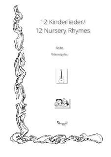 12 Kinderlieder für Gitarre: 12 Kinderlieder für Gitarre by folklore