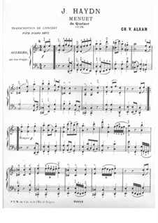 Streichquartett Nr.61 in d-Moll 'Quinten', Hob.III/76 Op.76 No.2: Teil III. Version für Klavier by Joseph Haydn
