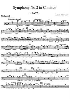 Sinfonie Nr.2 in c-Moll, WAB 102: Cellostimme by Anton Bruckner