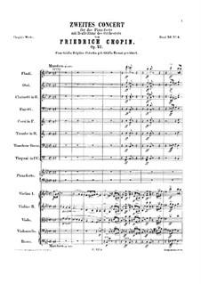 Vollständiger Konzert: Vollpartitur by Frédéric Chopin