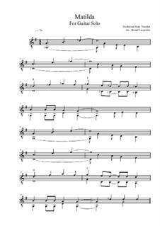 Matilda: Für Gitarre by folklore