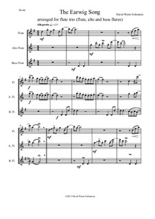 The Earwig Song: For flute trio (SAB) by David W Solomons