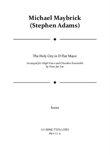 The Holy City: For high voice and chamber ensemble in D flat major – full score by Stephen Adams