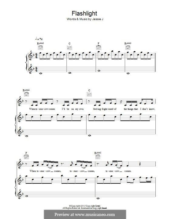 Flashlight (from Pitch Perfect 2): Für Stimme und Klavier (oder Gitarre) by Samuel Smith, Sia Furler, Christian Guzman, Jason Moore, Mario Mejia