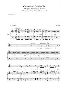 Die Macht des Schicksals: Canzone di Preziosilla (B-dur) by Giuseppe Verdi