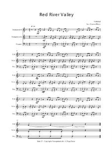 Red River Valley: Für Trio Trompete, Trompete, Posaune, Op.030117 by folklore