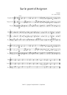 Sur le Pont d'Avignon: Trio Trompete, Trompete, Posaune, Op.030118 by folklore