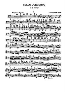 Konzert für Cello und Orchester in h-Moll, B.191 Op.104: Solostimme by Antonín Dvořák
