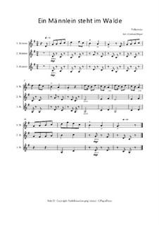 Ein Männlein steht im Walde: Trio für Violinen oder andere Melodieinstrumente, Op.010310 by folklore