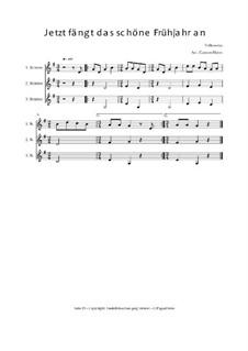 Jetzt fängt das schöne Frühjahr an: Trio für Violinen oder andere Melodieinstrumente, Op.010315 by folklore