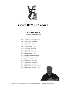 Frets Without Tears: Chapter Four - Lullabies and Dances by Johann Sebastian Bach, Henry Purcell, folklore, Valentin Haussmann, Vincent Coley