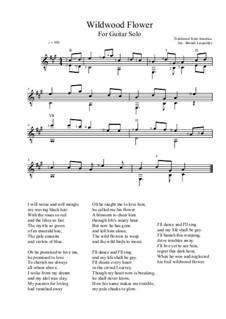 Wildwood Flower: Für Gitarre by folklore
