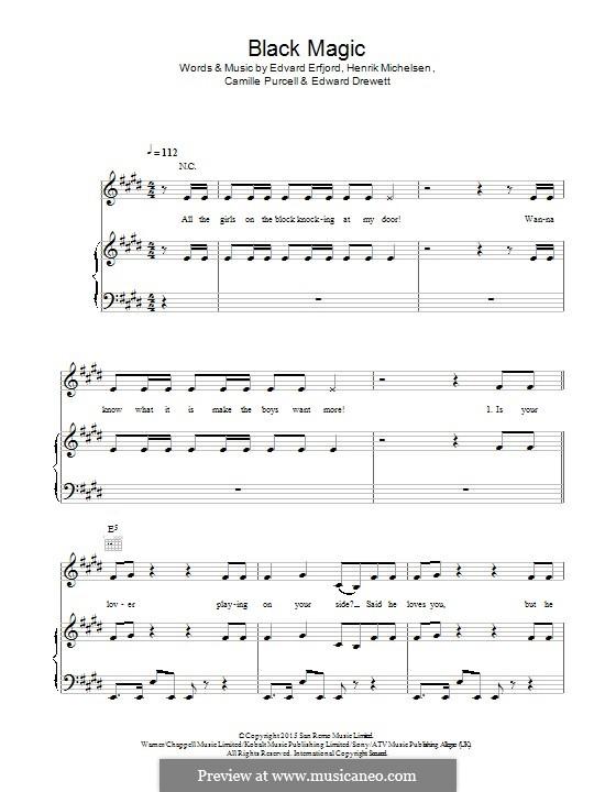 Black Magic (Little Mix): Für Stimme und Klavier (oder Gitarre) by Ed Drewett, Edvard Erfjord, Henrik Michelsen, Camille Purcell