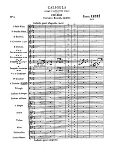 Caligula, Op.52: Vollpartitur by Gabriel Fauré