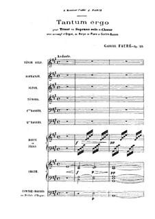 Tantum ergo, Op.55: Vollpartitur by Gabriel Fauré