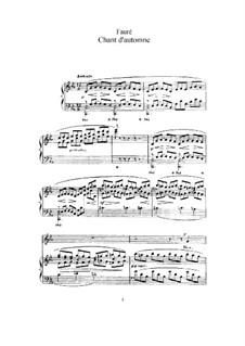 Drei Lieder, Op.5: No.1 Chant d'automne, for deep voice and piano by Gabriel Fauré