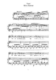 Drei Lieder, Op.5: No.2 Rêve d'amour by Gabriel Fauré