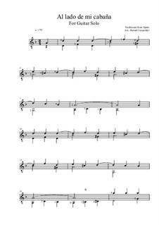 Al lado de mi cabaña: Für Gitarre by folklore