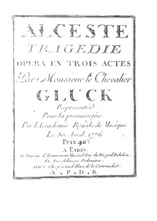 Alceste, Wq.44: Vollpartitur by Christoph Willibald Gluck