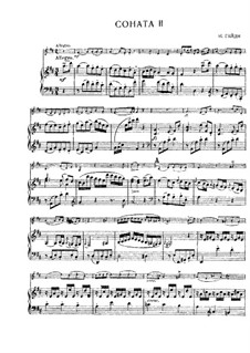 Sonate Nr.2 in D-Dur: Partitur, Solostimme by Joseph Haydn