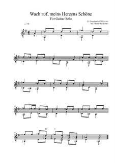 Wach auf, meines Herzens Schöne: Für Gitarre by Johann Friedrich Reichardt