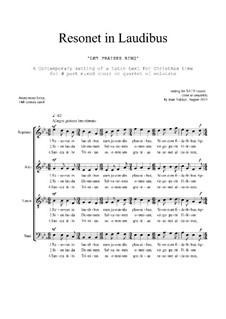 Resonet in Laudibus: SATB by Joan Yakkey