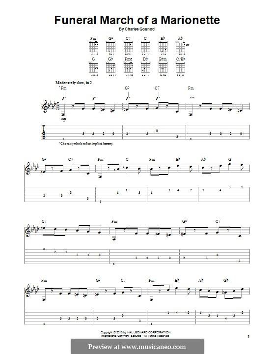 Trauermarsch einer Marionette: Für Stimme und Klavier (oder Gitarre) by Charles Gounod