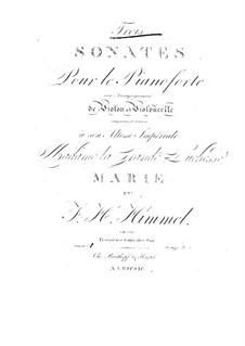 Drei Sonaten für Violine, Cello und Klavier, Op.16: Sonate Nr.1 in C-Dur by Friedrich Himmel