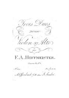 Sechs Duette für Violine und Bratsche, Op.65: Nr.4-6 – Stimmen by Franz Anton Hoffmeister