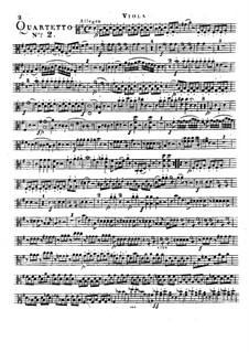 Klavierquartett Nr.2 in G-Dur: Violastimme by Franz Anton Hoffmeister