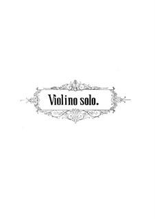 Violinkonzert Nr.4 'all' Antica', Op.101: Für Violine und Klavier – Solostimme by Jenö Hubay