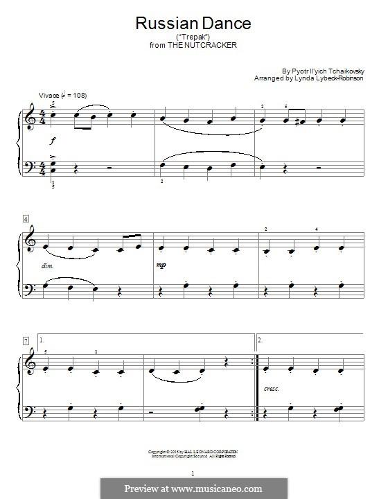 Nr.4 Russischer Tanz (Trepak): Für Klavier by Pjotr Tschaikowski