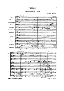 Fervaal, Op.40: Introduction – full score by Vincent d' Indy
