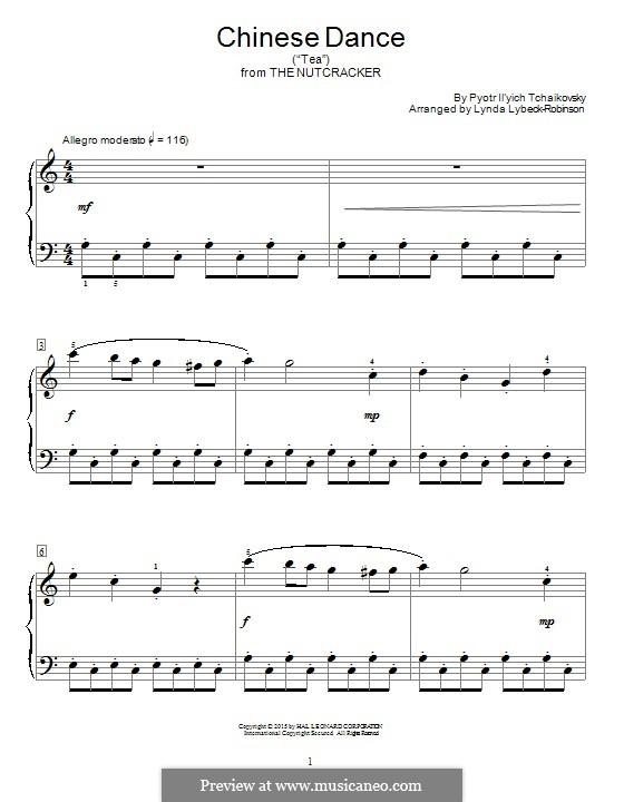 Nr.6 Chinesischer Tanz: Für Klavier by Pjotr Tschaikowski