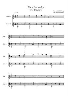 Tum Balalaika: Für zwei Gitarren by folklore
