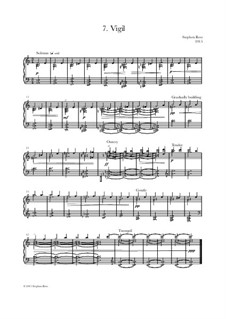 Heartlands - Seven Pieces for Piano: No.7 Vigil by Stephen Rees, Jenny Rees
