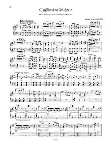 Cagliostro-Walzer, Op.370: Cagliostro-Walzer by Johann Strauss (Sohn)