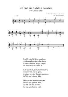 Ich hört ein Sicheln rauschen: For guitar by folklore