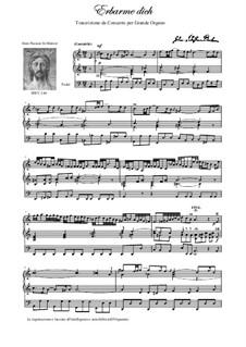 Nr.39 Arie 'Erbarme Dich, mein Gott': Für Orgel by Johann Sebastian Bach